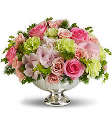 Teleflora's Garden Rhapsody Centerpiece from Sharon Elizabeth's Floral Designs in Berlin, CT