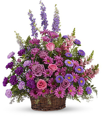 Gracious Lavender Basket from Sharon Elizabeth's Floral Designs in Berlin, CT