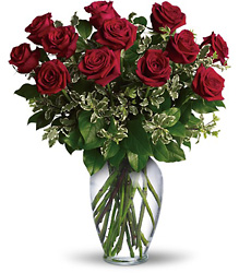 One Dozen Red Roses Arranged from Sharon Elizabeth's Floral Designs in Berlin, CT