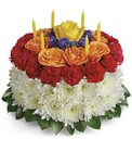 Your Wish Is Granted Birthday Cake Bouquet from Sharon Elizabeth's Floral Designs in Berlin, CT