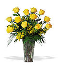 A Dozen Yellow Roses from Sharon Elizabeth's Floral Designs in Berlin, CT