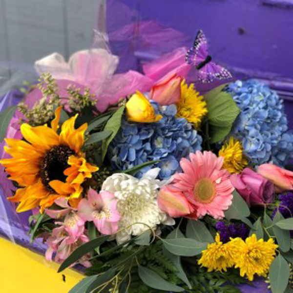 Fresh Wrapped Flowers - Premium from Sharon Elizabeth's Floral Designs in Berlin, CT